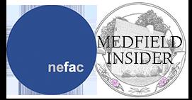 NEFAC and Medfield Insider logos